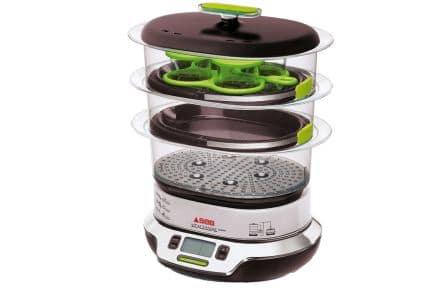 Le cuit vapeur vitacuisine compact de chez seb electroguide for Appareil vapeur cuisine