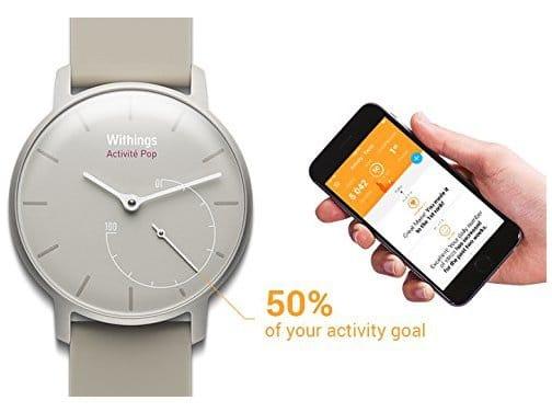 Montre Withings activite pop connectee avec un smartphone