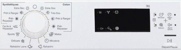 Sèche-linge lectrolux EDP2075GDW programme de facade