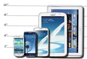 Taille écran smartphone