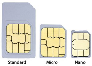 Taille des cartes SIM