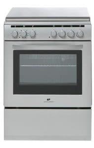 CONTINENTAL EDISON CECM6060MS2 Cuisinière table mixte gaz / électrique-4 foyers-Four électrique-Catalyse-56L-A-L60xH85cm-Silver