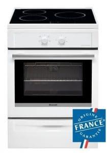 BRANDT BCI6650W -Cuisinière table induction-3 foyers-9283 kW-Four électrique-Pyrolyse-50,4L-A-L60xH85cm-Blanc