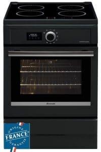 BRANDT BCI6656A - Cuisinière table induction-4 foyers-9275 kW-Four électrique-Pyrolyse-57L-A-L60xH85m-Noir