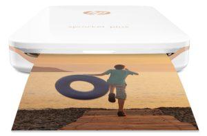HP Sprocket Plus Imprimante Photo portable (Bluetooth, Impression Couleur sans Encre 5,8 x 8,6 cm) Blanc