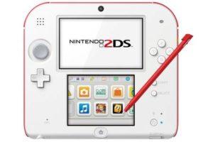 Console de jeux Nintendo 2DS Rouge et Blanc