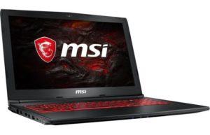 MSI PC Portable GL62MVR 7RFX-1262XFR - 15,6'' FHD - RAM 8 Go - Core i7-7700 - Stockage 128Go SSD + 1To HDD - GTX 1060 6Go